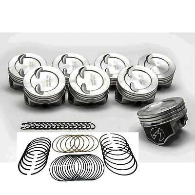 8 Speed Pro Chevy 350//383 Hypereutectic Coated Pistons 40 moly rings H860CP