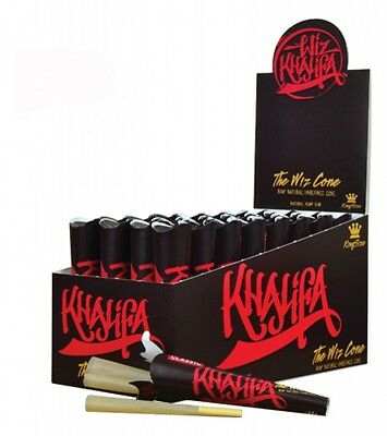 RAW Wiz Khalifa King Size Pre-Rolled Cones with Filter, Box of 32 Packs