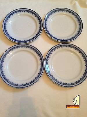 Antique Keeling & Co Losolware Dinner Plates x4 26cm Diameter