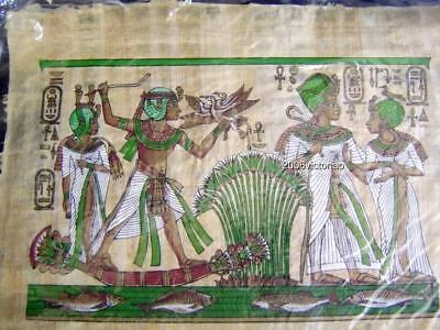 New Egyptian Papyrus Brown Green Hunting