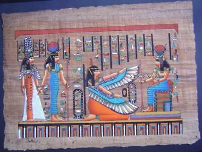 New Egyptian Papyrus Aqua Blue Orange Black