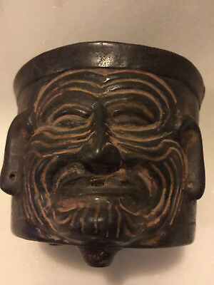 Pre Columbian Old Fire God Ritual  Incense Burner Vessel Over  1,500 Years Old