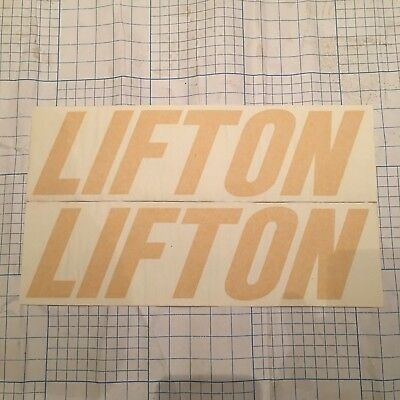 2 X LIFTON DUMPER DECAL  330mm X 85mm IN YELLOW SPARE PARTS