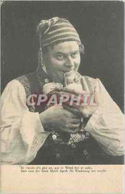 Vintage Postcard Homme has the Tabac pipe