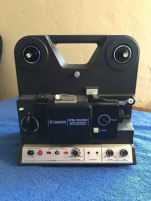 Vintage CANON CINE PROJECTOR PS-1000 CANOSOUND 8mm- AS IS- Turns on, not tested