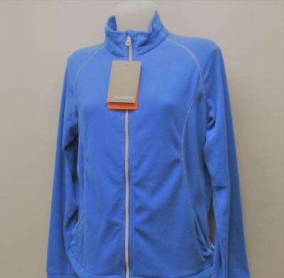New Ladies LARGE Sunice Sport long sleeve blue polyester fleece top
