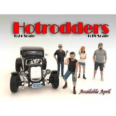 1/24 FIGURINE/Figure - HOTRODDER SET OF 4 for your shop/garage-AMERICAN DIORAMA