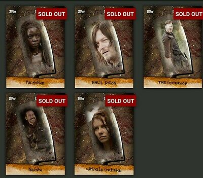 Topps The Walking Dead CHOP, with all 5 awards and 30 card set.  DIGITAL