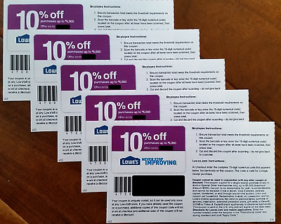 (3)  THREE Lowes 10% OFF-Coupons Online &InStore-Exp 11/30/17-Fast FAST Delivery
