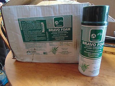 case of 12 Waterless Hand Cleaner Bravo Foam 14oz each with aloe  a106 Chemax