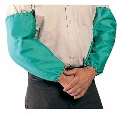 """2 Pairs of 18"""" Welding Sleeves Green Flame Retardant Cotton with Elastic Ends"""