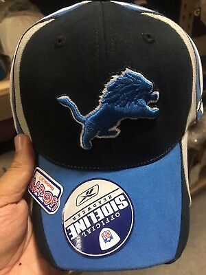 70a682b9 NFL DETROIT LIONS Sideline Reebok Youth Kids Flex Fit Hat Cap