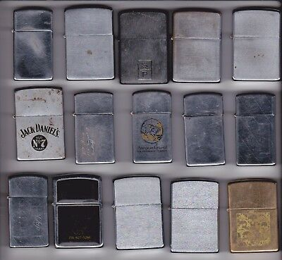 Vintage Lot Of 15 Zippo Lighters...1958ish -2012