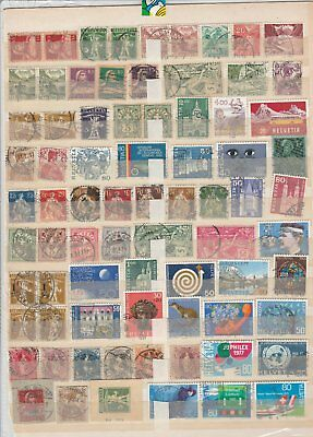 Oct705 Selection Of Stamps Switzerland