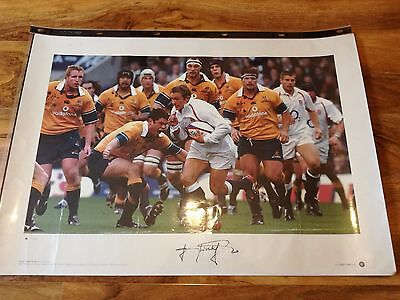 Magnificent Signed Jonny Wilkinson England British And Irish Lions Rugby Print