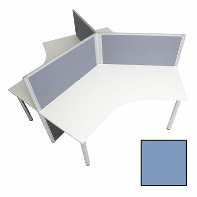 Rapid Screen 3 Person Workstation Blue Screen White Top