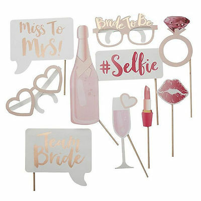 Team Bride To Be Glasses Photo Booth Props Balloons Bachelorette Hen Party