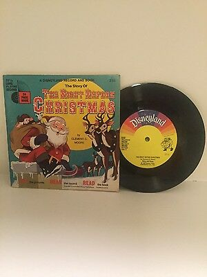 Disneyland Record And Book, The Night Before Christmas