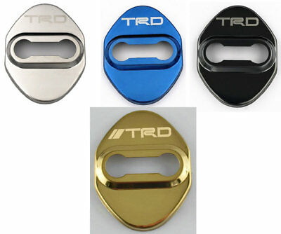 4pcs New Car Auto Door Lock Cover Cap Buckle TRD Logo For Toyota Series #139