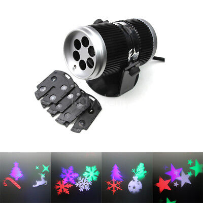 Outdoor LED Laser Chrismas Light Stage Party 6-Patterns Snowflake Projector