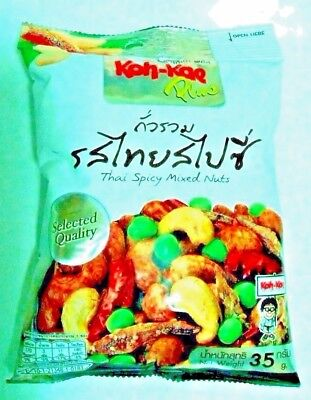 35g rich in protein, fibre  selected quality Thai spicy snack mixed nuts