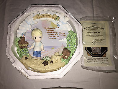 NEW Bradford Exchange Precious Moments Footprints in the Sand