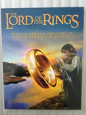 New Zealand Lord of the Rings UNC 18 X 50 cent Coins LOTR Set in Folder