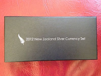 New Zealand 2012 Fine Silver Proof Currency Set Mint