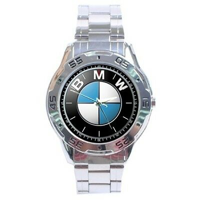 New BMW M Sport Car Logo Chrome Sport Metal Mens Watch Gift