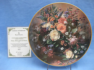 Royal Doulton 'Classic Florals' Bone China Plate 'Pink, White & Red Roses'