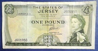 JERSEY: 1 x £1 The States of Jersey Banknote - Very Fine Condition