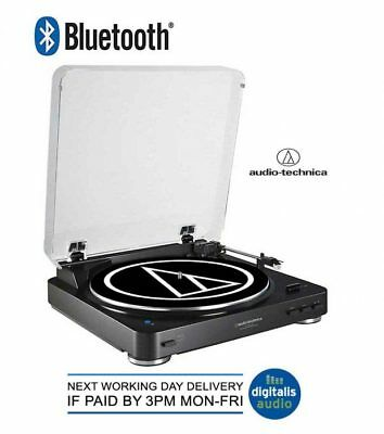 Audio-Technica AT-LP60-BT Bluetooth Wireless Transmit Turntable, Black BT
