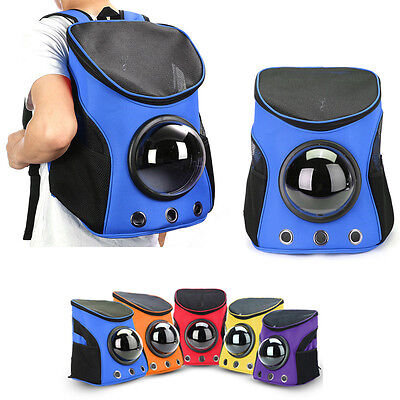 Breathable Astronaut Capsule Pet Cat Dog Travel Bag Backpack Oxford Carrier Blue