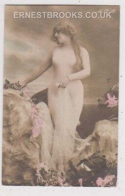 Early Postcard, Glamour,  Young Girl, RP