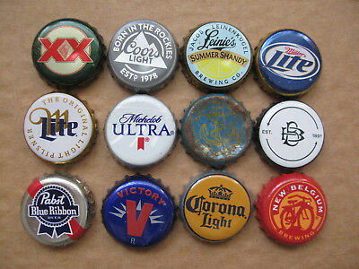 12 Usa Bottle / Beer Caps / Tops (Xxx)