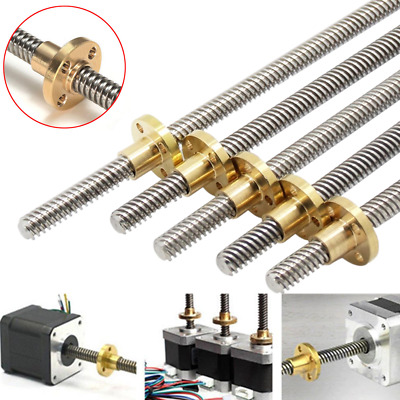 T8 3D Printer 8mm Lead Screw Rod Z Axis Linear Shaft w/ Anti-Backlash Nut Kit