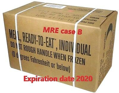 MRE ready to eat MENU B 13-24 US Military combat ration full box valid till 2020