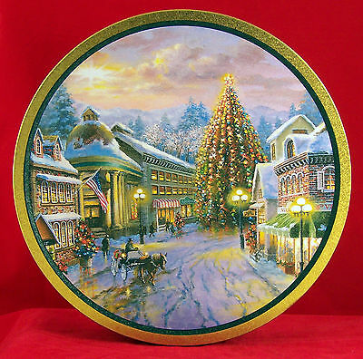 Large Tin Original Gourmet Nicky Boehme Xmas Village Empty Can Box Container
