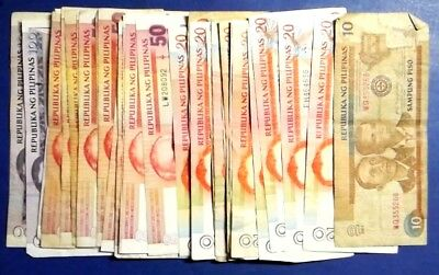 PHILIPPINES: Set of 35 Piso Banknotes - Very Fine Condition