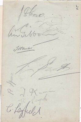 Signed England Wartime Xl Laurie Scott Raich Carter Dick Spence Leyfield Green+