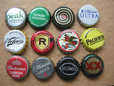 12 Usa Bottle / Beer Caps / Tops (Ddd)