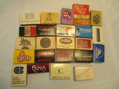 Vintage Matches Match Books Lot of 24 Japan Denmark Australia Michigan Florida