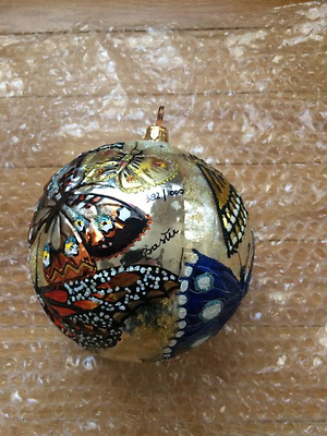 Slavic Treasures - Butterfly Ball 2000 Ornament - 99-086-B - Signed  382 of 1000