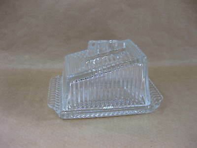 Vintage Pressed Glass Butter Dish ~ Covered Dish