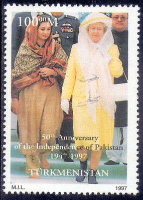 Turkmenistan  Stamp 50th Anniversary Of The Independence Of Pakistan 1997 Mnh.