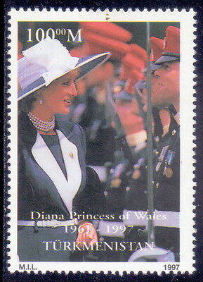 Turkmenistan  Stamp Diana Princess Of Wales 1997  Mnh.