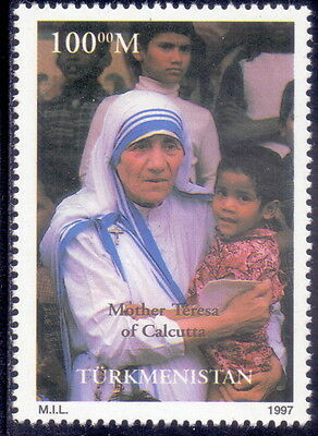 Turkmenistan  Stamp Mother Teresa 1997  Mnh.