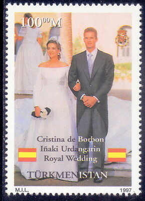 Turkmenistan  Stamp Royal Wedding 1997  Mnh.