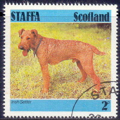 Scotland Stamp Irish Setter Dog