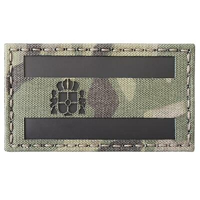 spain flag bandera españa infrared IR multicam morale 3 5x2 laser hook patch